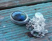 Labradorite Necklace, Sterling Silver Gemstone Pendant, Natural Labradorite Oval pendant,  Labradorite Gift Jewelry ,Flash Labradorite