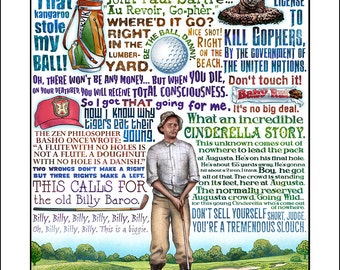 "Cinderella Story- Caddyshack tribute print- 11""x14"" signed print"