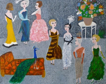 In all their finery. Original oil painting on canvas by Vivienne Strauss.