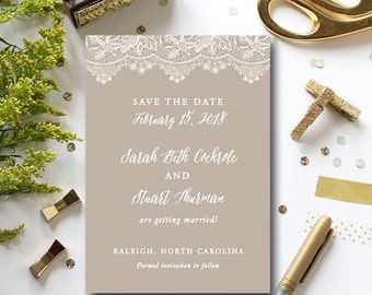 Lace save the date, champagne save the date, wedding save the date card, romantic save the date {set of 50}
