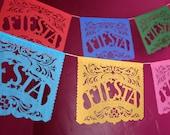 FIESTA - custom color papel picado banner