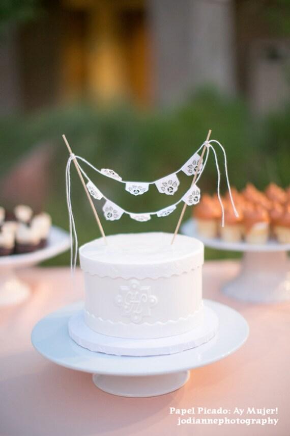Papel Picado Miniature Cake Topper Bunting Las Flores