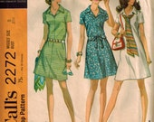 Vintage 70's Sewing Pattern, Misses' Dress in Two Versions, Size 8