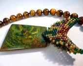 SALE Jungle Boogie - Tiger Eye & African Jade Necklace