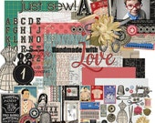 Sew In Love - Sewing Digital Scrapbooking Kit
