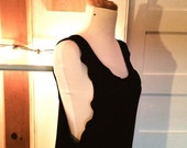 Women's nightgown lounge dress // Black bamboo jersey // MADE TO ORDER