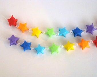 Lucky Star Garland - Rainbow - ROYGBIV - 7 Color Rainbow