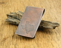 Texas money clip, TX money clip, Texas gift, TX gift, gifts for him, imprinted state money clip.