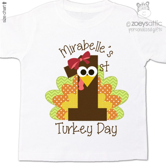 7522fa1fd36a1 First Thanksgiving Day shirt girl or boy adorable 1st turkey day Tshirt or  bodysuit. Adorable shirt or bodysuit (if preferred) for your precious  little ...