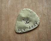 Brass Fly Away Guitar Pick