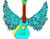 Winged Uke in Turquoise