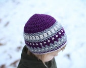 Crochet Hat Pattern - Galilee Hat Pattern (Newborn to Adult)