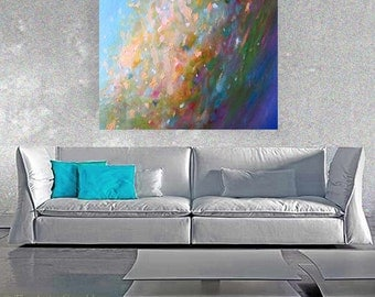 Original large ABSTRACT PAINTING oil on canvas modern fine art contemporary oil painting wall art Leearte Carol Lee Art Studio