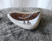 Large Brown Beach Pottery Bird