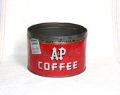 Vintage A & P Coffee Tin