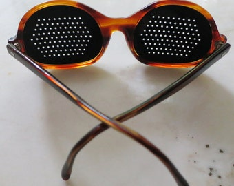 Perforated Vintage Sunglasses - Lido by Imperial - made in Italy - very unusual
