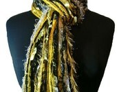 Pittsburgh Steelers colors - Sports scarves College Scarf - Shades of Black, White and Yellow Gold