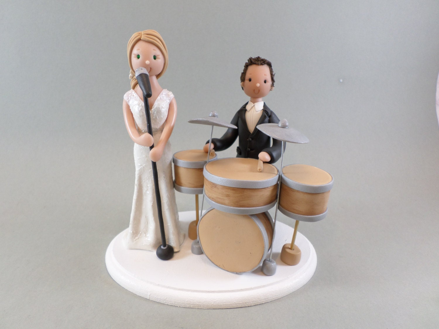 drummer wedding cake topper singer amp drummer personalized wedding cake topper 13755