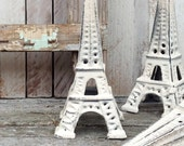 Eiffel Tower, French Home Decor, Rustic Chic, Wedding Table French Decor, Shabby Chic White