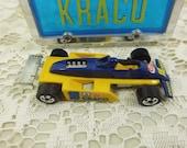 Hot Wheels Kraco Thunderstreak Yellow Indy Race Car, Mattel Hot Wheels Park N Plates Collectors Case