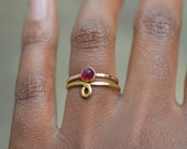 Forget Me Knot Ring, Adjustable Ring, Bronze Promise Ring