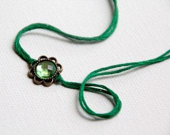 valentine wish bracelet green thread wishlet bracelet emerald jewelry valentines day gift for her birthstone bracelet friendship bracelet