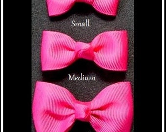 BOW TIE Hair bows for GIRLS, Tuxedo style hair bows, hair bows for toddlers, Small to extra large classic hair bows,