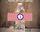 USA Gym Girls Party - Set of 12 Gymnastics Water Bottle Labels by The Birthday House