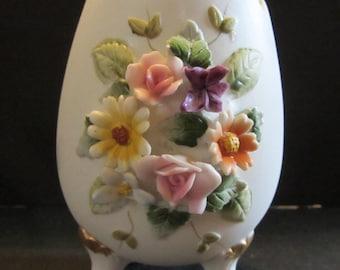 Lefton China Egg Hand Painted Vintage porcelain