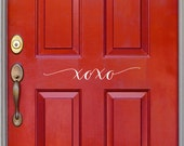 Front Door Vinyl Decal - XOXO - Valentine's Decal - Love decor - Hugs and Kisses