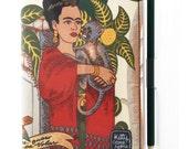 A6 Journal - Frida Kahlo fabric - monkey