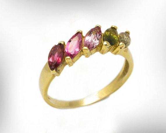 Women Gemstone Rings Birthstone Ring Gold 14k October