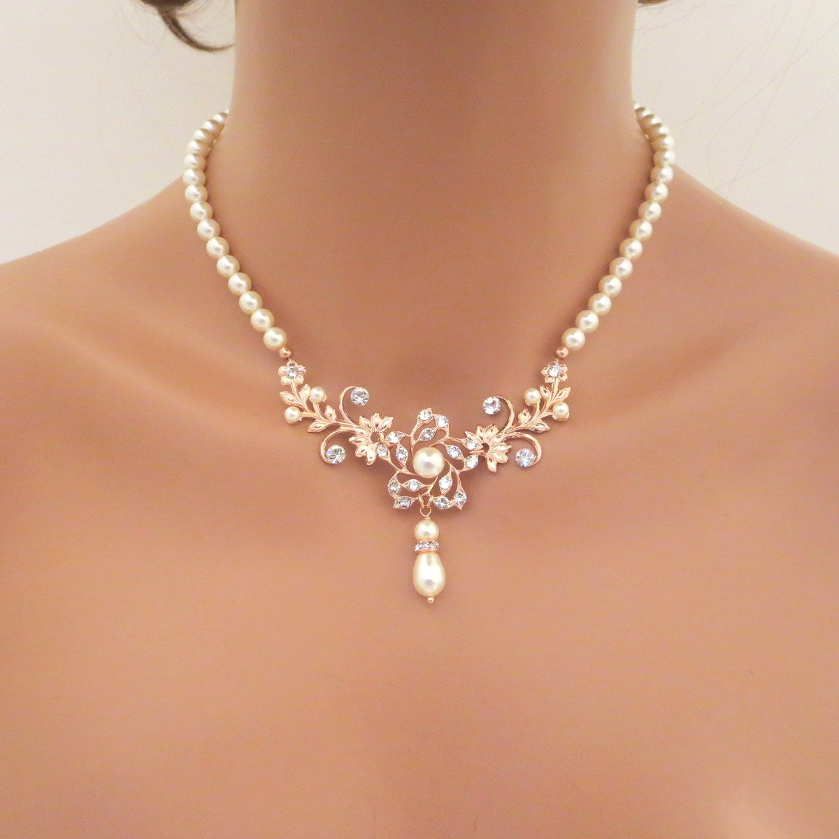 Image Result For Rose Gold And Pearl Bridal Jewelry Online