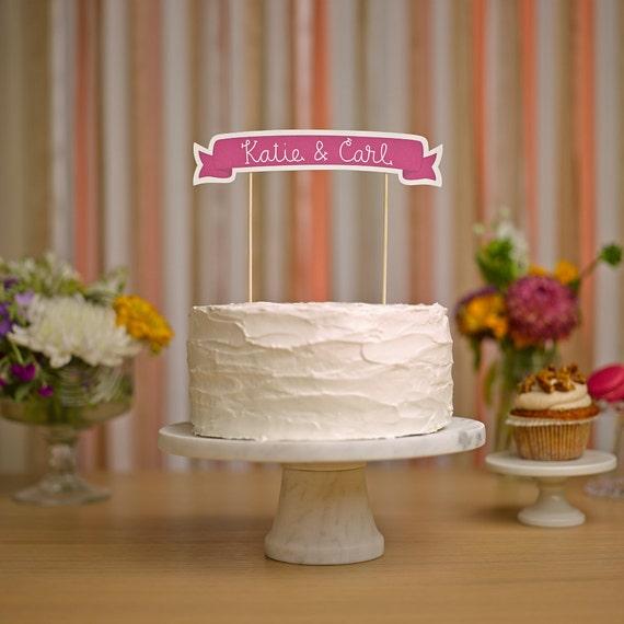 Custom Cake Banner No. 3 - Wedding Cake Topper