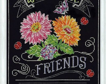 Design Works Crafts - Welcome Friends 2867, Counted Cross Stitch Picture Kit