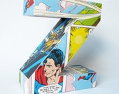 Any Large 3D letter made from vintage comic book