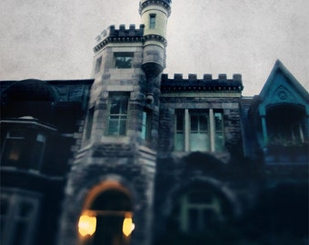 Montreal Art Architecture Photography Architectural Plateau Haunted House Canadian Seller Print - The Haunting's of Rapunzel