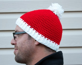 Santa Claus crochet beanie hat