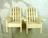 DIY Cake Topper Kit - Just Chairs - Adirondack Chairs For Cakes and Centerpieces-  Beach Wedding Kit
