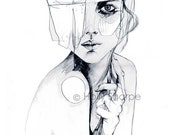 Sketch V // PENCIL DRAWING / A2 Giclée print from an original drawing by Holly Sharpe