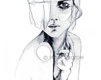 Sketch V // PENCIL DRAWING / A1 SIZE Giclée print from an original drawing by Holly Sharpe