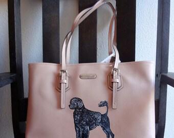 Portguese Water Dog Portie Hand Painted Purse / Handbag / Wearable Art - One of a Kind