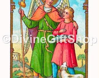 "Icon Saint Raphael the Archangel. 5"" X 7"" Print. Gorgeous."
