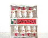 Vintage Santa Party Picks / Holiday Entertaining / Hors D'oeuvres Picks / NOS