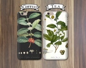 His and Hers Phone Cases - Coffee and Tea, Black and White - iPhone 6, 5/5S 5C, Galaxy s4 s5 Cases Couples iPhone Cases