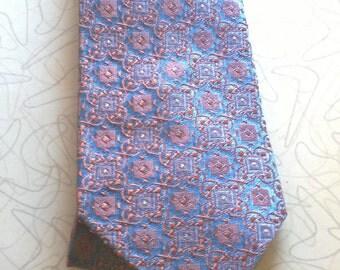 Vintage 50s Necktie by Jack Steinberg Neckwear, Acetate Rayon Blend, Metallic Shiny Glow Tie
