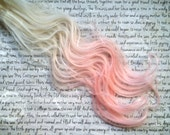 """SALE the T U L I P … Tulip from the FLORAL collection synthetic hair clip in White blonde into pale pink 16/18"""" long"""