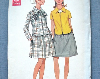 60s Vintage Butterick 5097 Sewing Pattern  Bust 34 inches