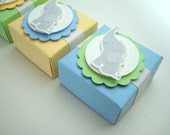 Baby Elephant Favor Boxes, Yellow, (55) Reserved for Helen
