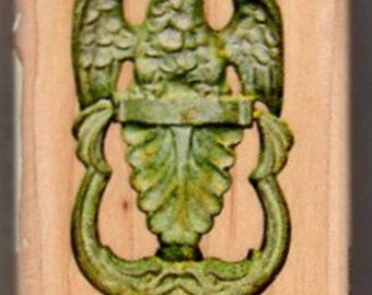 Just Reduced!  Eagle Emblem Door Knocker - New WM Rubber Stamp - Military - Crafts - Collage - Scrapbooks - Cards - FREE Shipping